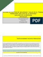 Implementacion Del SG-SST de La Ferreteria San Jose de La Montaña