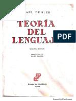 Bühler, K. (1950). Teoría Del Lenguaje.