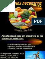 1. Alimentos Necesarios Para El Cuerpo