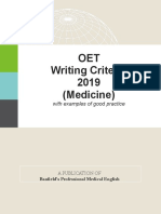 OET Writing Criteria 2019