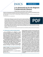 Research Progress in Ultrasound Use for the Diagnosis and Treatment of Cerebrovascular Diseases
