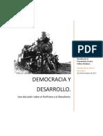 Democracia y Desarrollo. Una discusión del Porfiriato y el liberalismo