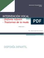 Disfonia Infantil y Trastorno Muda Vocal_Def Ev y Tto