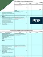 OSHMS Audit Checklist
