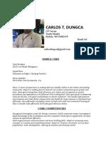 Carlos t.dungca Resume New