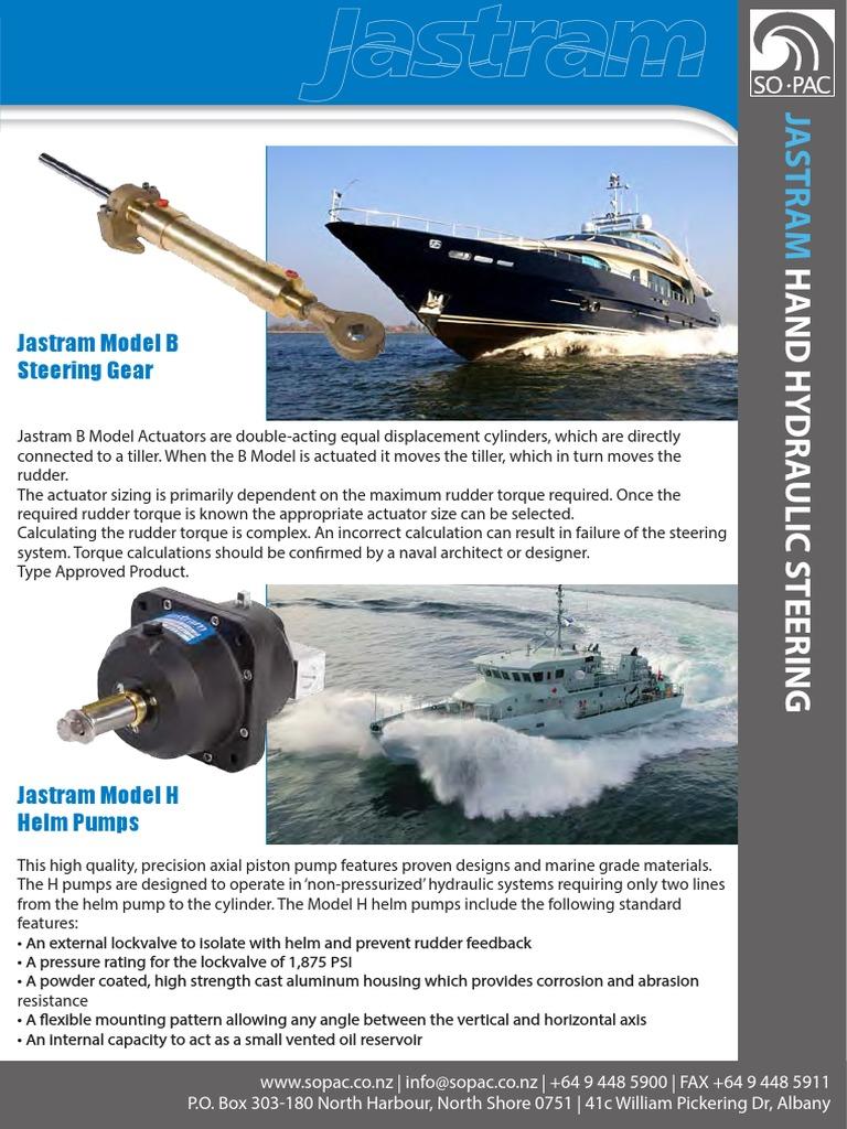 Jastram Hand Hydraulic Steering   Rudder   Vehicle Parts