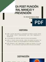 Cefalea Post Punción Dural Manejo y Prevención