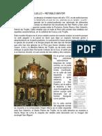 Catedral de Trujillo – Retablo Mayor