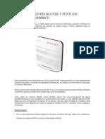 Diferencias Entre Router y Punto de Acceso Inalámbrico Lta