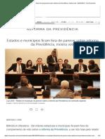 Estados e Municípios Ficam Fora de Parecer Sobre Reforma Da Previdência, Mostra Voto - 02-07-2019 - UOL Economia