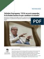 """Nicholas Negroponte- """"El 5G No Será Rompedor. Es La Fusión Nuclear Lo Que Cambiará El Mundo"""" - Tecnología - EL PAÍS"""