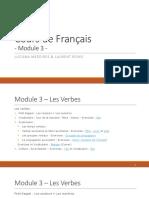 Cours de Français - Module 3