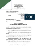 Judicial Affidavit Acosta
