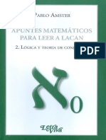 Apuntes matemáticos para leer a Lacan 2. Lógica y teoría de conjuntos [Pablo Amster].pdf