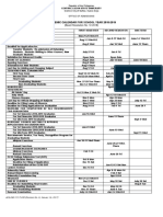 Academic Calendar (2018-2019)