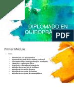 Diplomado en Quiropráctica 01 Junio 2019
