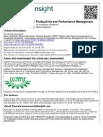 Holistic Performance Management