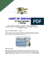 Holyland Tours Ittinerary Hermon Petra 12 Hari Plus Petra
