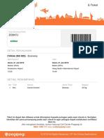 Contoh Tiket Penerbangan Pegi Pegi
