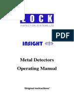 Metal Detectors Operating Manual