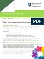 Normal Fetal Movement - RCOG