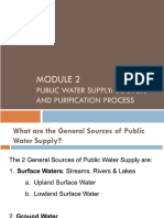 Module 2 - Public Water Supply & Treatment Process