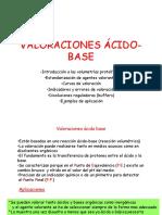 Valoraciones Acido Base