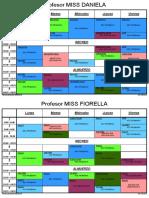 Horario Oficial de Profesores