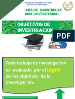 TEMA N° 05 OBJETIVOS DE LA INVESTIGACION