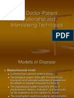 The Doctor-Patient Relationship and Interviewing Techniques