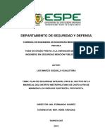 Plan de Seguridad Integral Para El Sector de La Mariscal