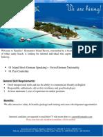 Job Advertisement - 030719