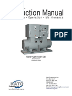 Instruction Manual Motor Generator