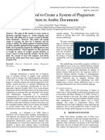 The Best Method to Create a System of Plagiarism Detection in Arabic Documents