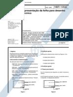 NBR 10582 - Apresentação Da Folha Para Desenho