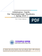 Guideline for Admission