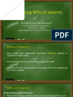 Managing Difficult Patients