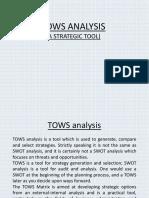 PPT on TOWS analysis.pptx