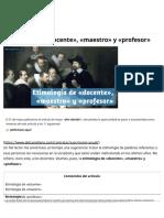 Etimología de «docente», «maestro» y «profesor» ⋆ delcastellano.com
