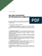 Balance de Materia en Procesos de Combustión