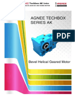 Agnee - Bevel Helical Geared Motor Type AK