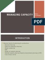 12.0 Managing Capacity