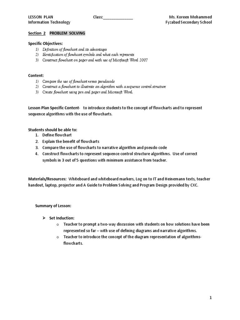 Flowchart Lesson Algorithms Neuropsychological Assessment