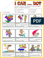 What Can People Do Esl Exercise Worksheet for Kids
