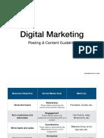 Digital Marketing Post Content Guideline