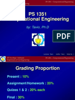 PS1351 Computational Engineering(Tavio Lecture1)