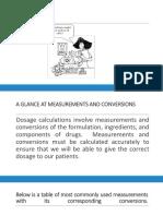 Drug Dose Calculation Using Measurements