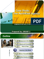 A Case Study:One NorthEast Agency