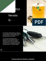 Understanding Second DUI in Nevada