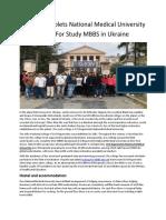 O.O. Bogomolets National Medical University – Best for Study MBBS in Ukraine